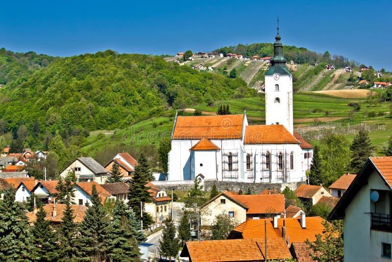 Village of Remetinec in Zagorje. Village of Remetinec in pictoresque hills area of Zagorje, Croatia stock photo