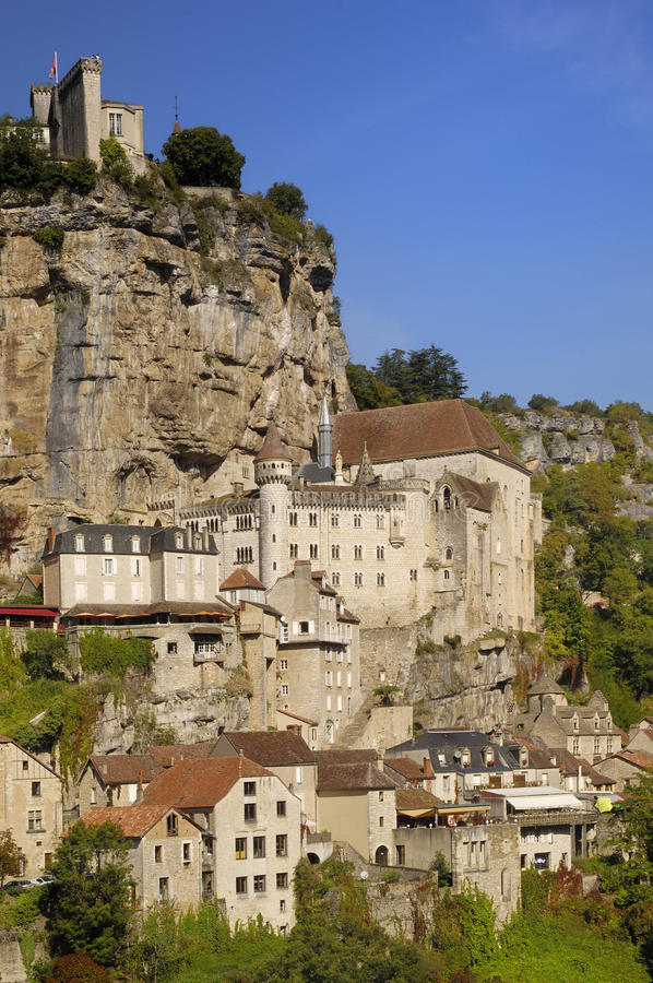 Village of Rocamadour in Midi-Pyrenees, France royalty free stock photography