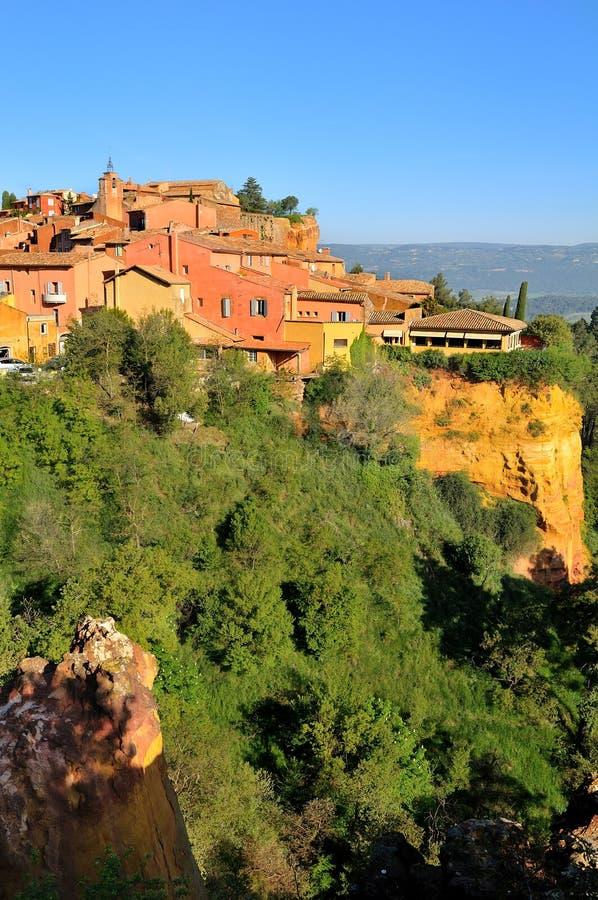 Village Roussillon royalty free stock image