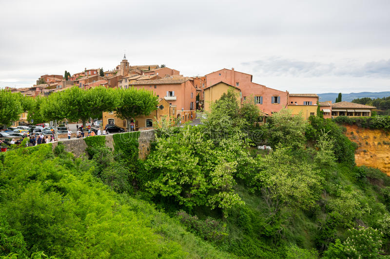 Village of Roussillon in the Provence royalty free stock photography