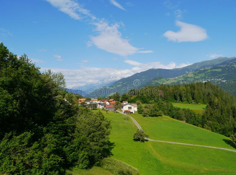 A village at the Ruinalta in Switzerland stock photography