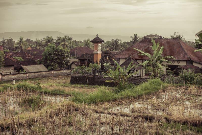 Village rural dans Bali photo libre de droits