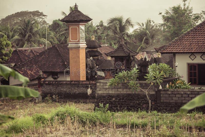 Village rural dans Bali photo stock