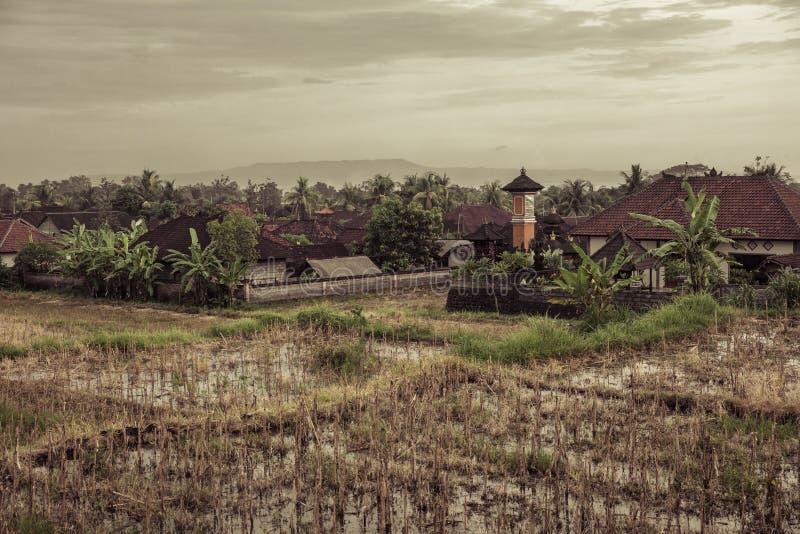 Village rural dans Bali images libres de droits