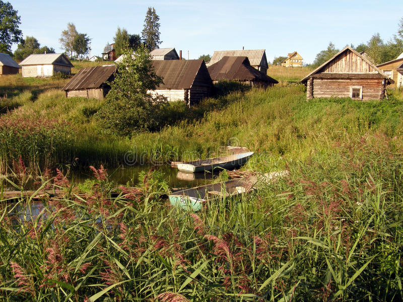 Village in Russia. Typical poor village in Russia royalty free stock photo