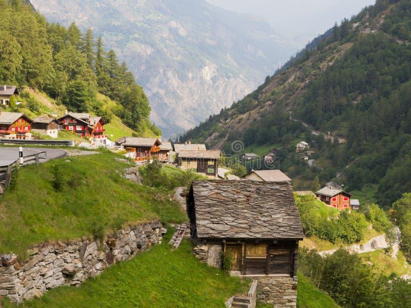 Village Saas Balen, Suisse photographie stock libre de droits