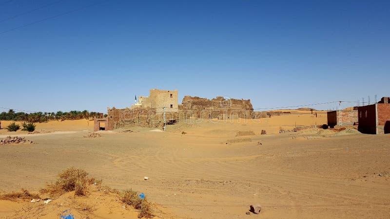 Village of Sahara stock photo