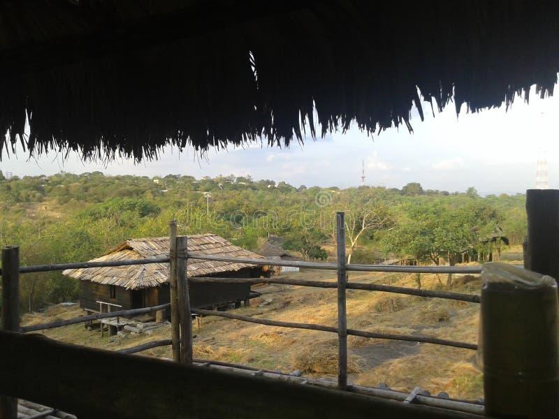 A village scene stock image