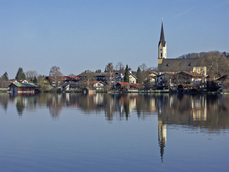 Village Schliersee in Bavaria stock photos