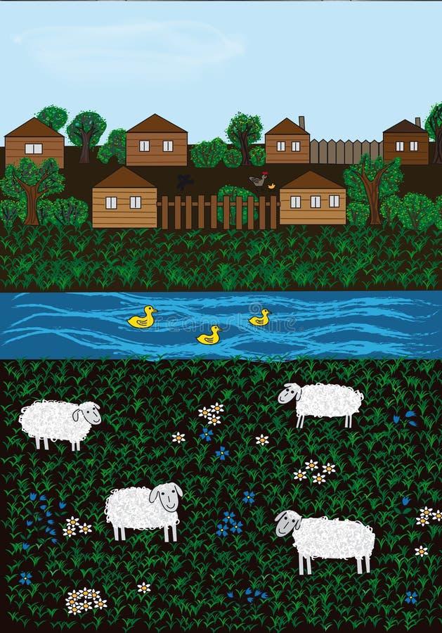 Village royalty free illustration