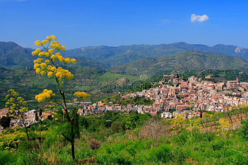 Download Village in Sicily stock image. Image of hills, house, outside - 2407041