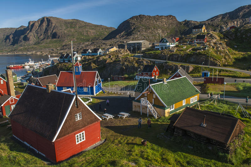 The Village of Sismiut stock images