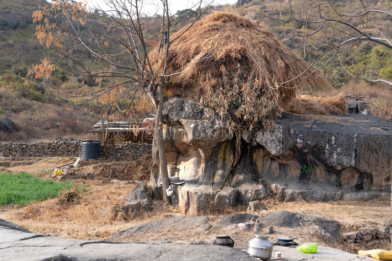 The village site in Mount Abu royalty free stock photo