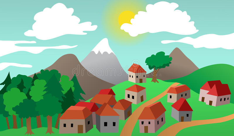 Download Village Or Town Suburb Landscape Stock Photography - Image: 29856052