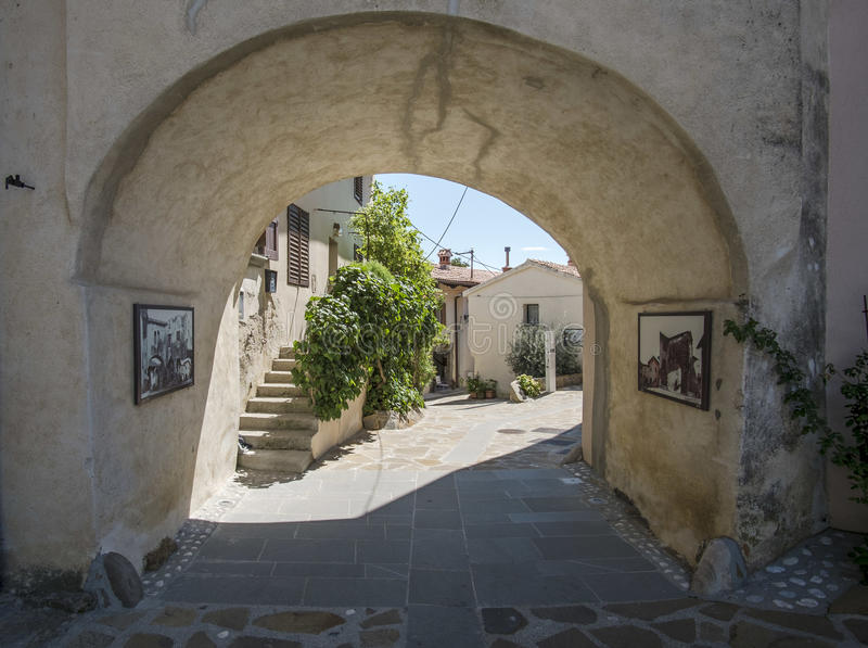 Village of Smartno, Goriska Brda,. Slovenia stock image