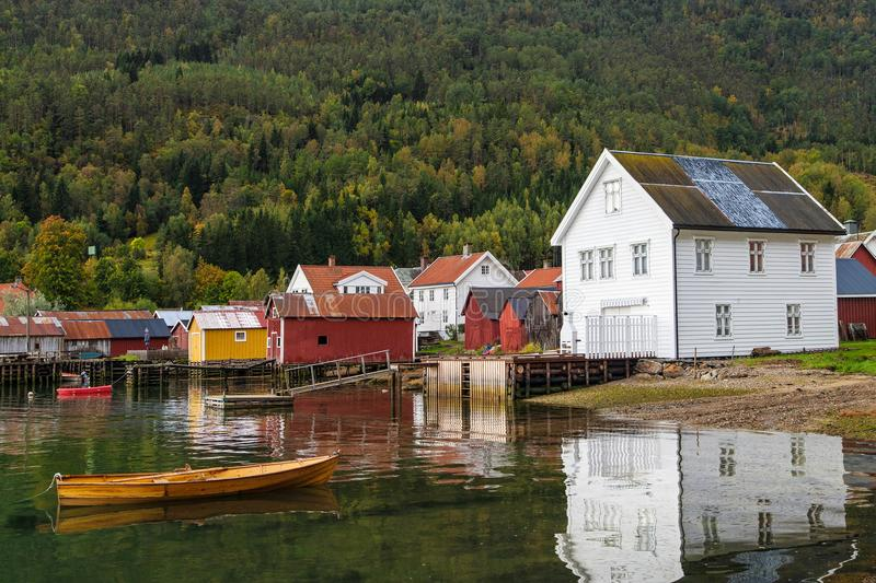 Village of Solvorn royalty free stock photos