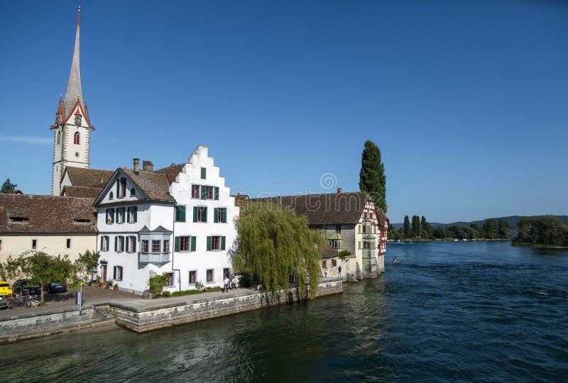 Village of Stein am Rhein in Switzerland royalty free stock photos