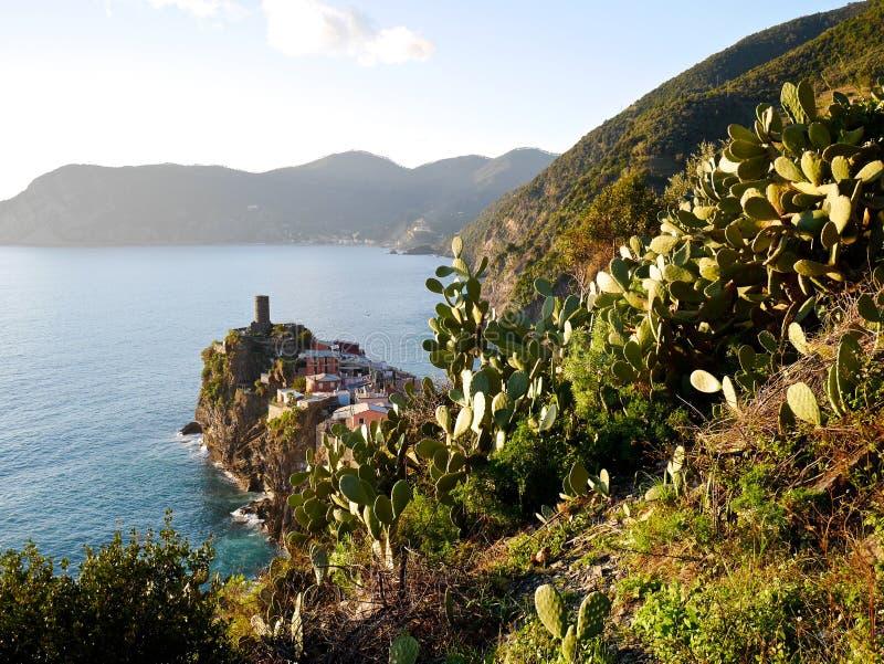 Village sur la falaise image libre de droits