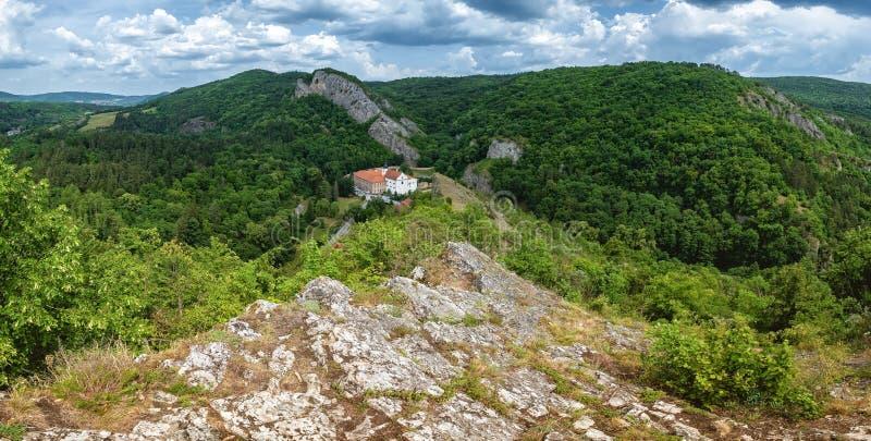 Village Svaty Jan pod Skalou royalty free stock photos