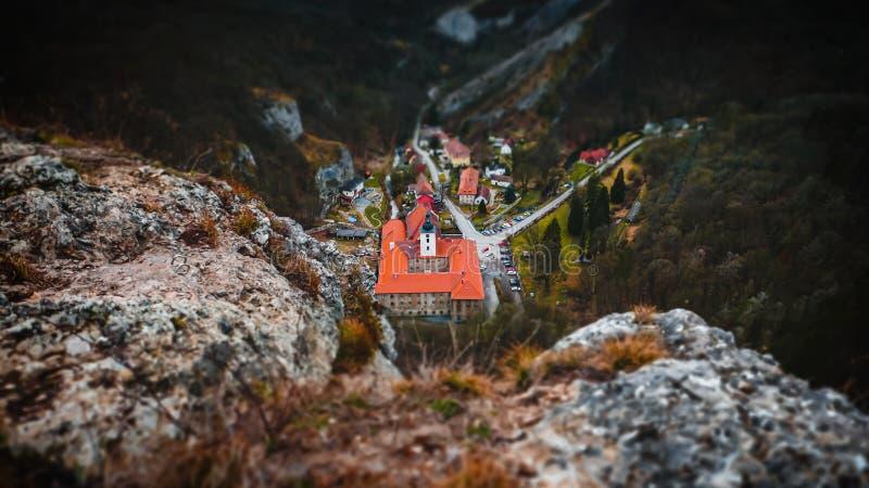 Village Svaty Jan pod Skalou stock image
