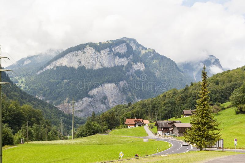 Alpin nature in switzerland stock photos