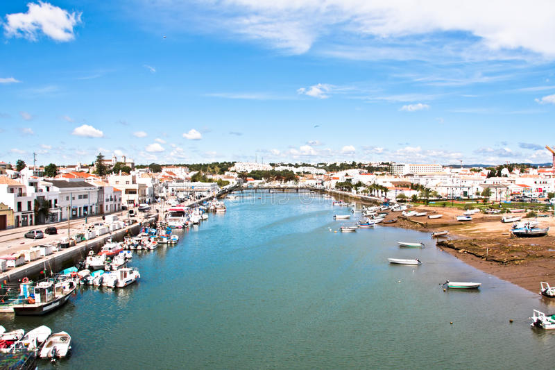 Village Tavira in Portugal stock photography
