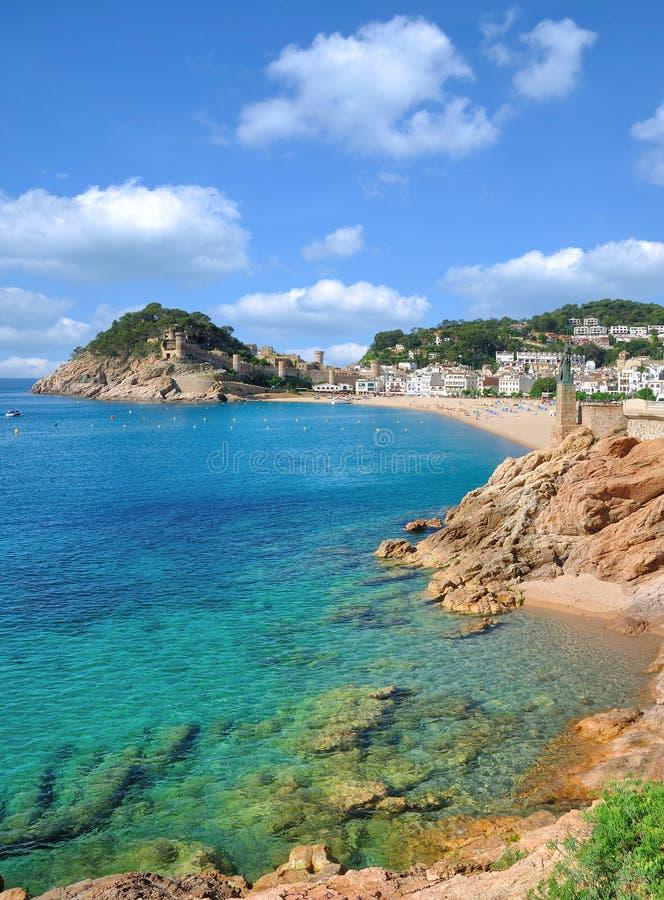 Village of Tossa de Mar,Costa Brava,Catalonia,Spain royalty free stock photography