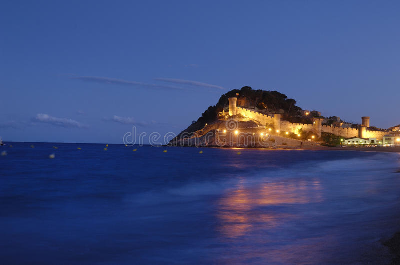 Village of Tossa de Mar, Costa Brava, Girona,province,Catalonia royalty free stock image
