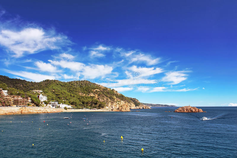 Village Tossa de Mar, Spain. royalty free stock image