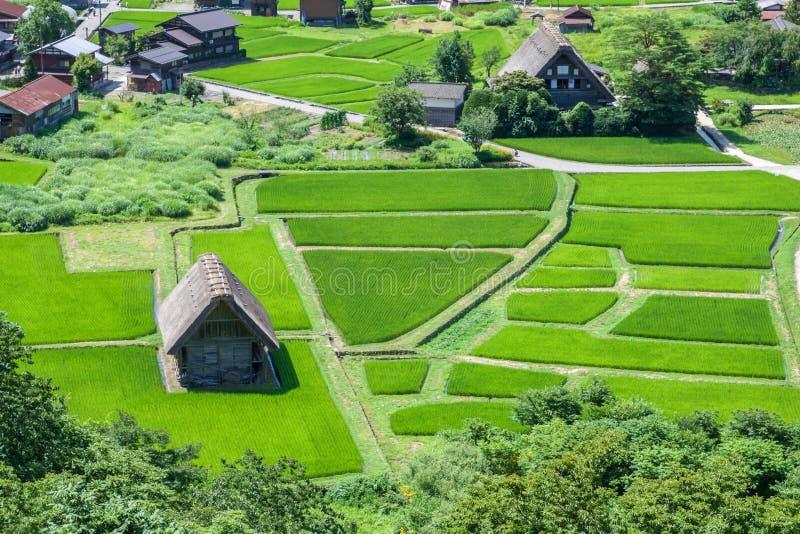 Village traditionnel au Japon image libre de droits