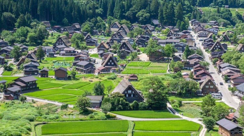 Village traditionnel au Japon photographie stock libre de droits
