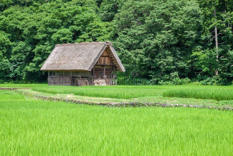 Village traditionnel au Japon images libres de droits