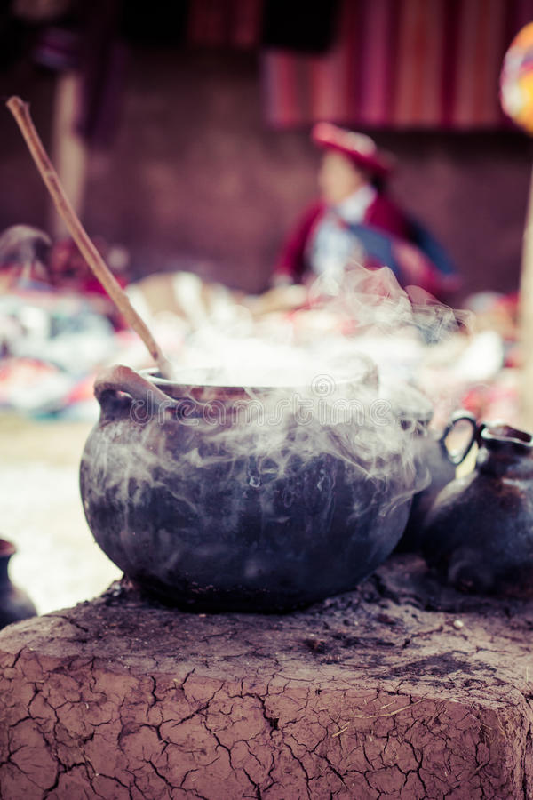 Village traditionnel au Pérou, Amérique du Sud. photos stock