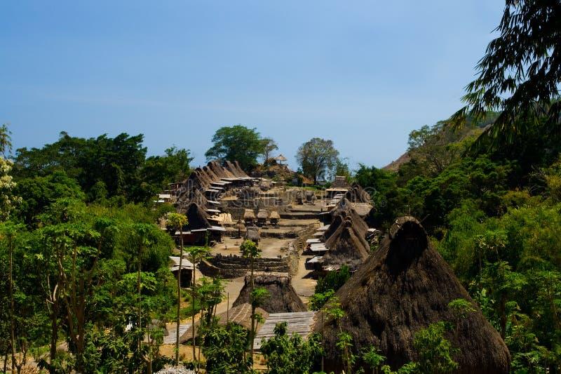 Village traditionnel Bena de Ngada images libres de droits