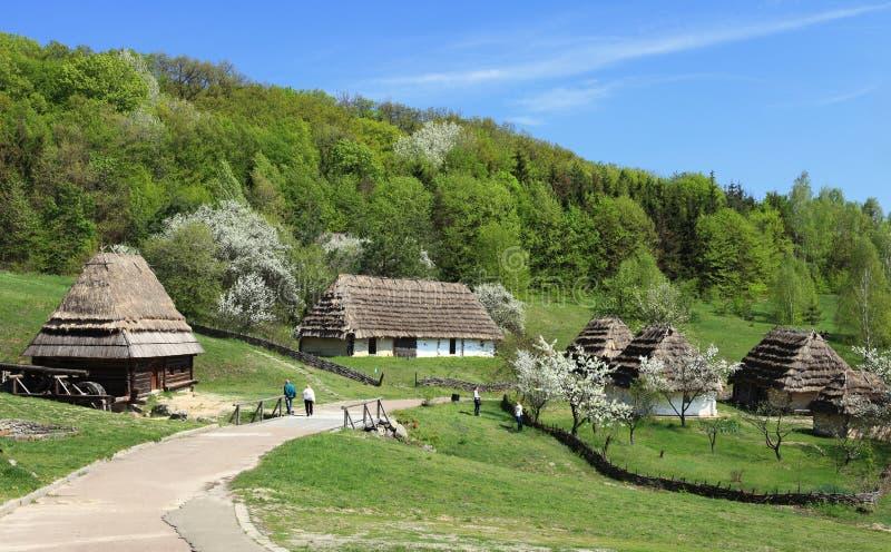 Village traditionnel de l'Ukraine images libres de droits