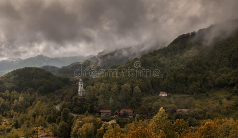 Village in Transylvania stock photo