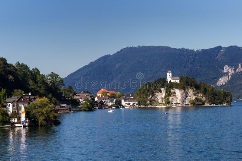 Download Village of Traunkirchen stock image. Image of rock, austria - 26597051