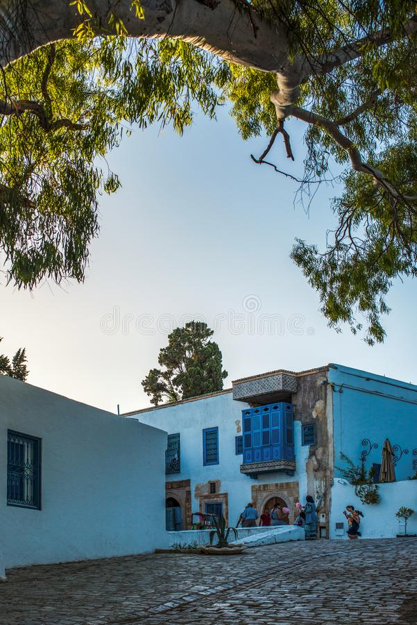 Village in Tunisia stock photography