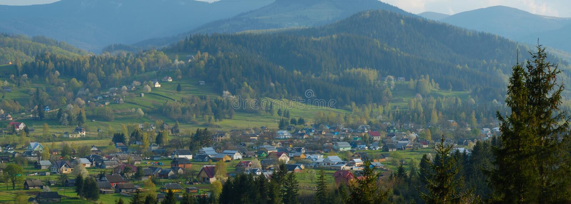 Village in Ukraine stock image