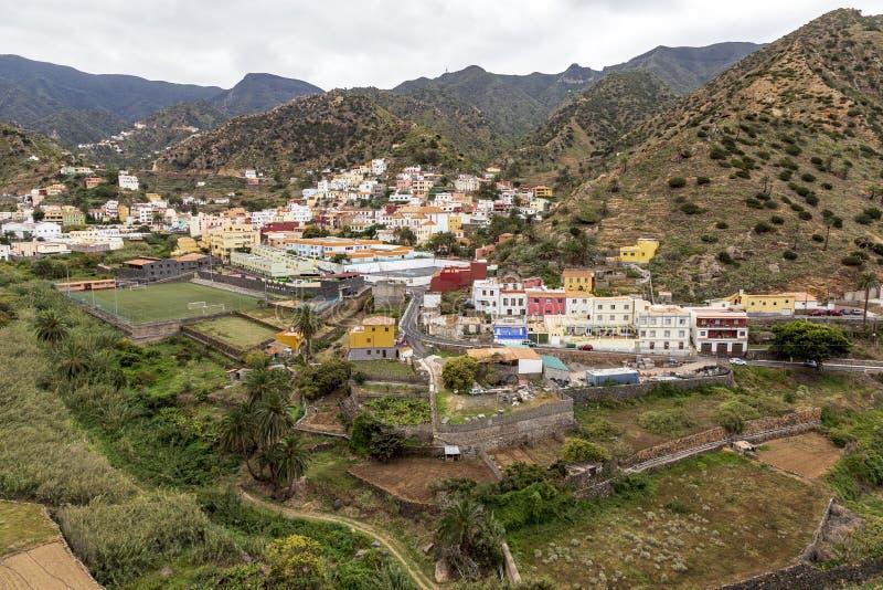 Village of Vallehermoso at La Gomera. Canary Islands. royalty free stock image