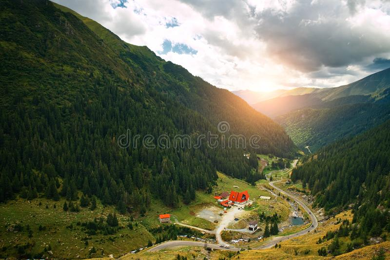 Alpen village in the valley royalty free stock images