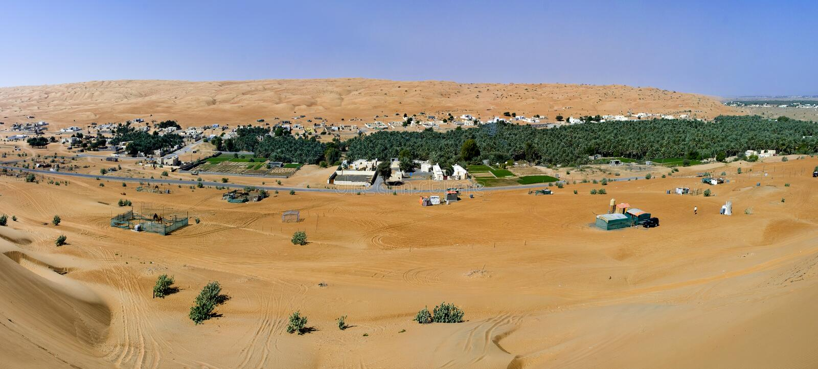 Download Village In The Wahiba Sands, Oman Royalty Free Stock Photography - Image: 24577467