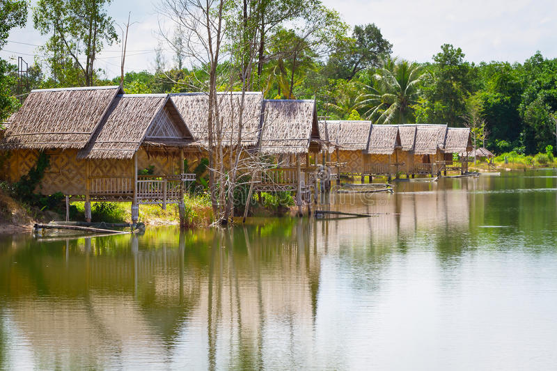 Download Village At The Water In Thailand Stock Image - Image: 29628765