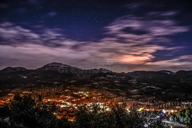 Nocturnal mountain stock images