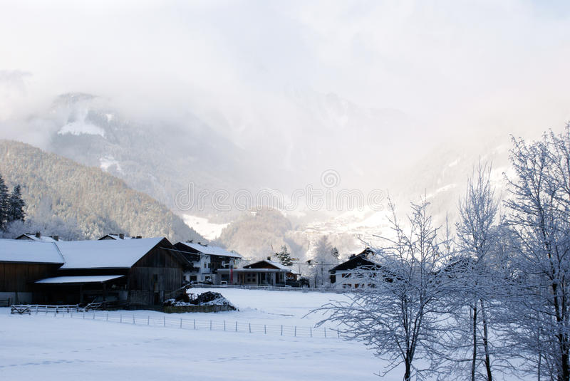 Download Village in winter stock photo. Image of cloud, residential - 17169484