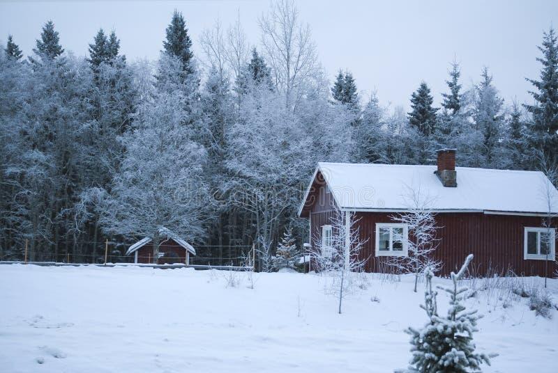 Village winter / Christmas royalty free stock image