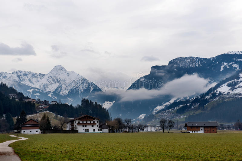 The Village Zell am Ziller, in the Zillertal, Austria royalty free stock photos