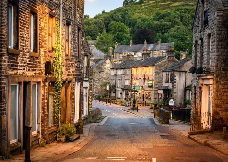 Villagein Brits Platteland het UK royalty-vrije stock fotografie