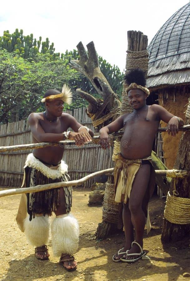 Villageois de zoulou images libres de droits
