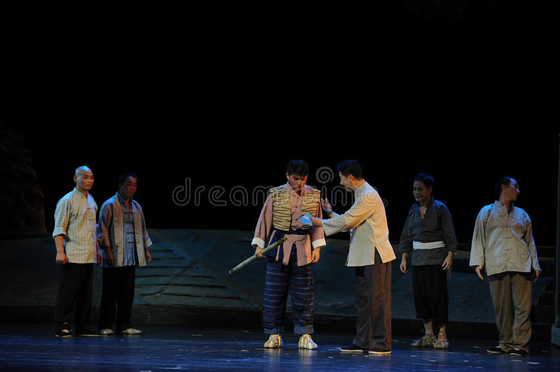 The villagers sustenance- Jiangxi opera a steelyard. Jiangxi opera a steelyard is adapted from a true story: the last century fortys, the protagonists father stock photo
